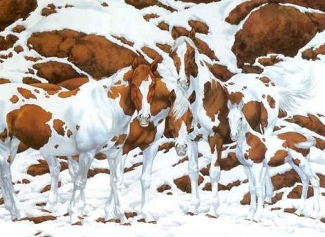 Rajtad is kifog ez a kép? Te hány lovat látsz a festményen?